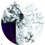 MICRO-POÉTIQUE, team 13 / Installation in situ de treize œuvres sur verre, 119 x 109 cm, 2018.